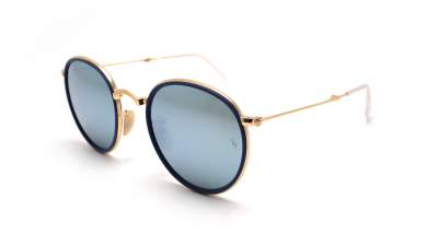 Ray-Ban Round pliables Flash lenses Bleu RB3517 001/30 51-22 Pliantes 155,90 €