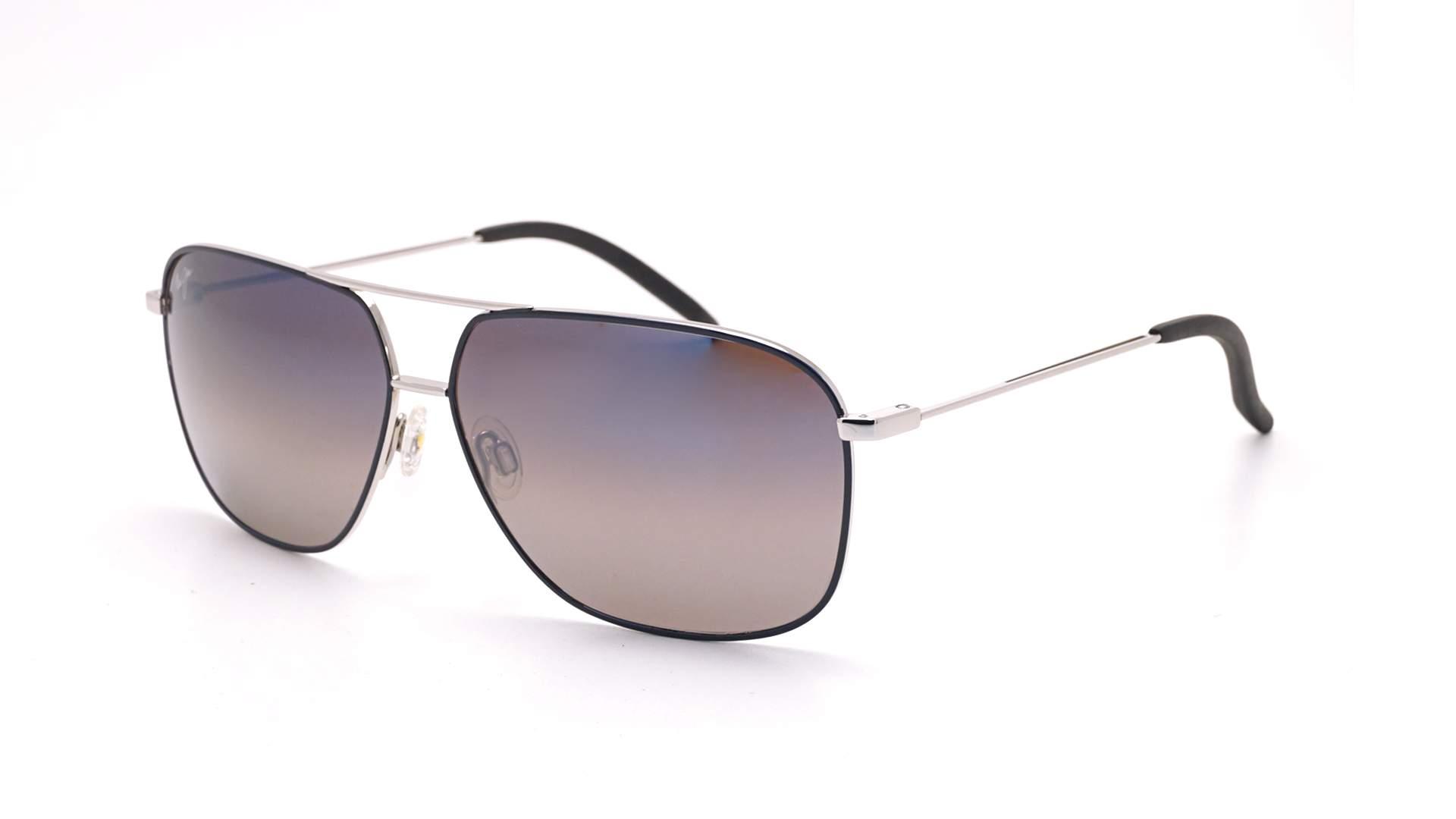 Maui Jim Kami Silber Super thin glass DBS778 06A 62 12 Breit Polarisierte Gläser Gradient Gläser Verspiegelte Gläser