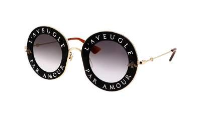 Gucci GG0113S 001 44-30 Schwarz Breit Gradient Gläser