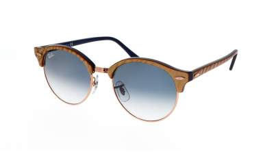 Ray-Ban Clubround RB4246 1306/3F 51-19 Top wrinkled beige on blue 105,90 €