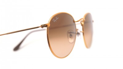 Ray-Ban Round Metal Gold RB3447 9001/A5 53-21 Gradient